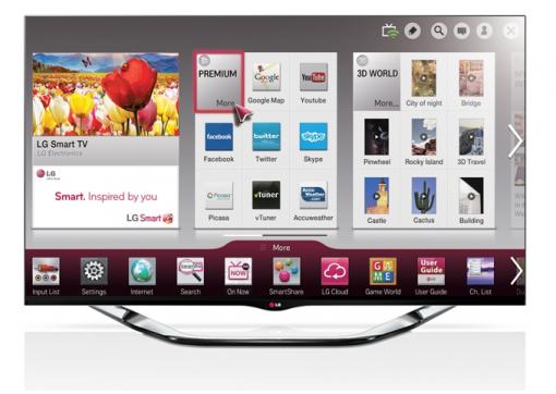 LG 42 inch CINEMA 3D Smart TV LA860V