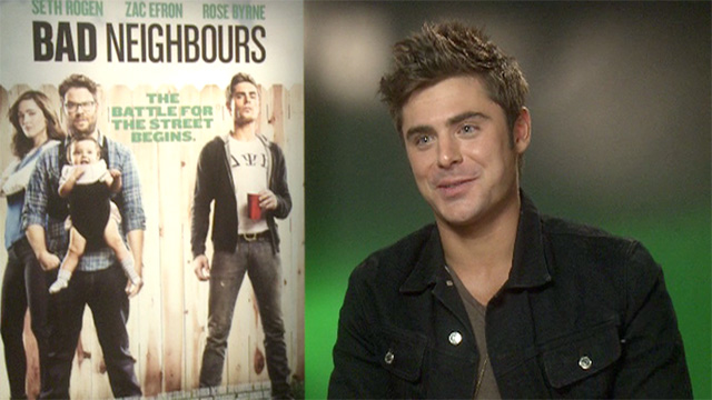 Zac Efron, star of Bad Neighbours